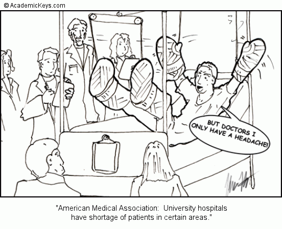 Cartoon #27, American Medical Association: University